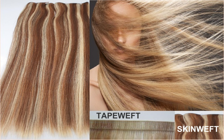 Premium Echthaar Tape Wefts